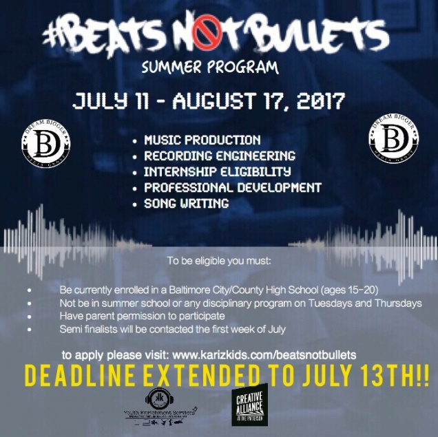 Beats Not Bullets Music Workshop For Youth Creative Alliance